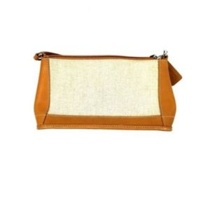 Coach Brown Leather and Beige Linen AOC-6115